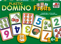 Plastic Domino Fruits