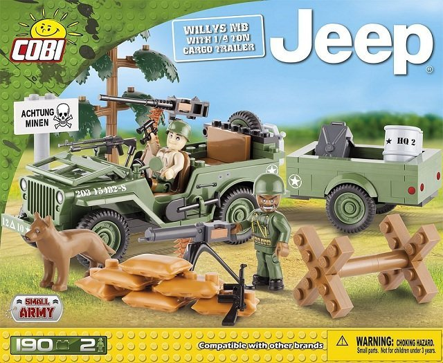 Jeep Willys MB with 1|4 Ton Cargo Trailer