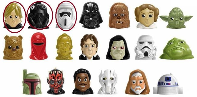 Star Wars Blister de 5 figuras con Luke Skywalker