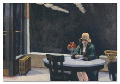 500 Automat, 1927, Edward Hopper