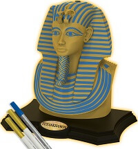 3D SCULPTURE TUTANKHAMON, Gold edition