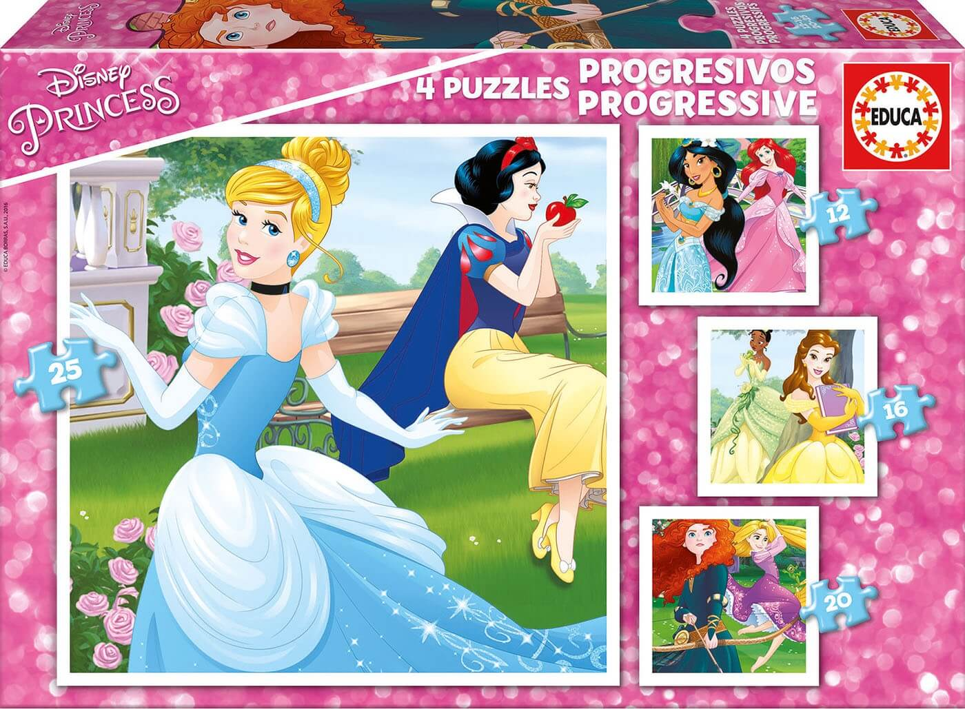 Progresivo 12-16-20-25 Princesas Disney