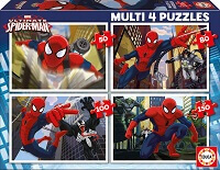 Multi 4 Puzzles 50-80-100-150 Ultimate Spider-Man