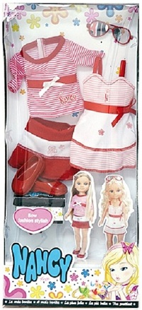 Bow Fashion Set Stylish 2 vestidos  Marinero Rojo