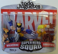 superHero Squad Wolverine and Sabertooth