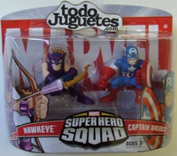 superHero Squad Hawkeye and Captain America