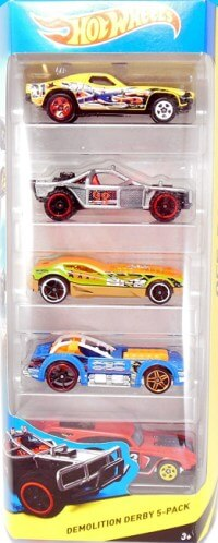 Demolition derby pack de 5 vehículos