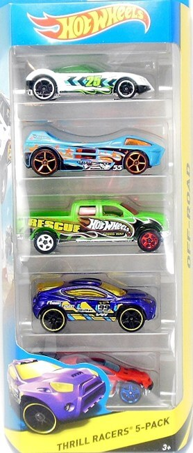 Thrill racers Pack de 5 vehículos